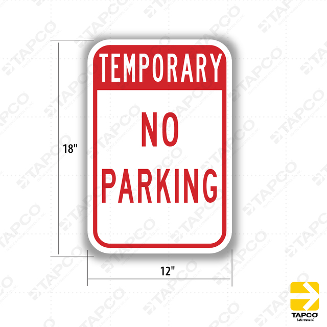 corrugated plastic temporary no parking sign 37301188