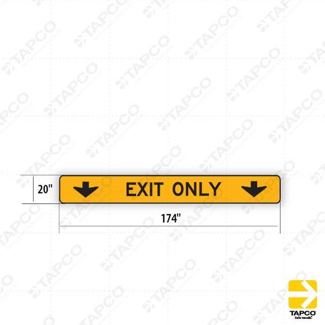 W61e Ca Exit Only Double Arrow Symbol Sign 314443 Tapco
