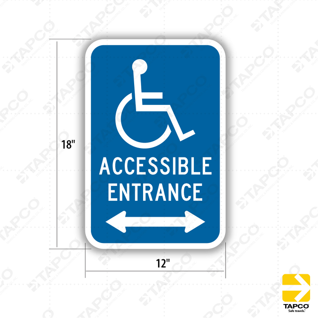 Ada Handicap Symbol Accessible Entrance Double Arrow Da 10d
