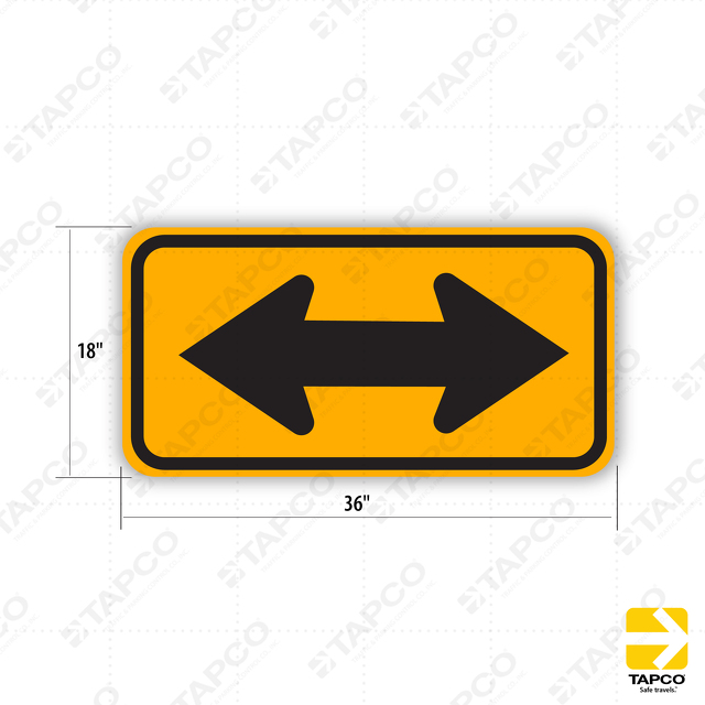 W1 7 Double Arrow Symbol Sign 373 05213 Tapco Traffic